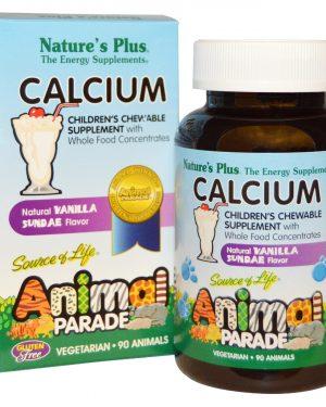 NAP 29996 6 1 300x375 - Calcium, Children's Chewable Supplement, Natural Vanilla Sundae Flavor (90 Animals) - Nature's Plus