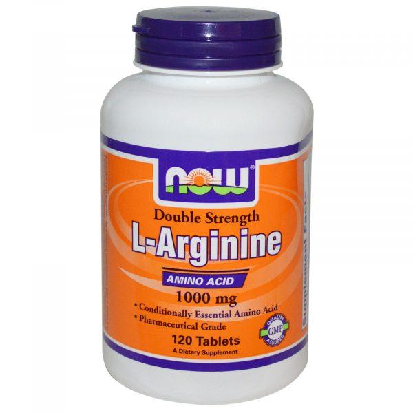 NOW 00035 3 1 600x600 - L-Arginine 1000 mg (120 Tablets) - Now Foods