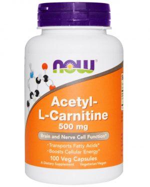 NOW 00076 1 1 300x375 - Acetyl-L-Carnitine 500 mg (100 Veg Caps) - Now Foods