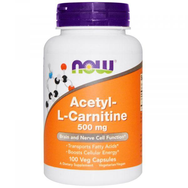 NOW 00076 1 1 600x600 - Acetyl-L-Carnitine 500 mg (100 Veg Caps) - Now Foods