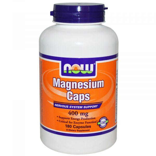 NOW 01283 5 1 600x600 - Now Foods, Magnesium Caps, 400 mg, 180 Veggie Caps