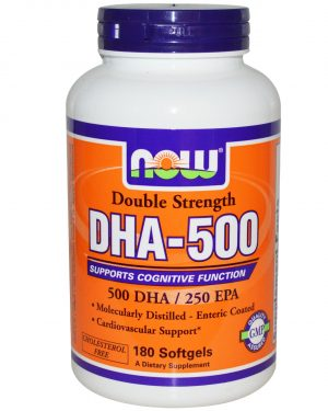 NOW 01613 4 1 300x375 - Now Foods, DHA-500, Double Strength, 180 Softgels