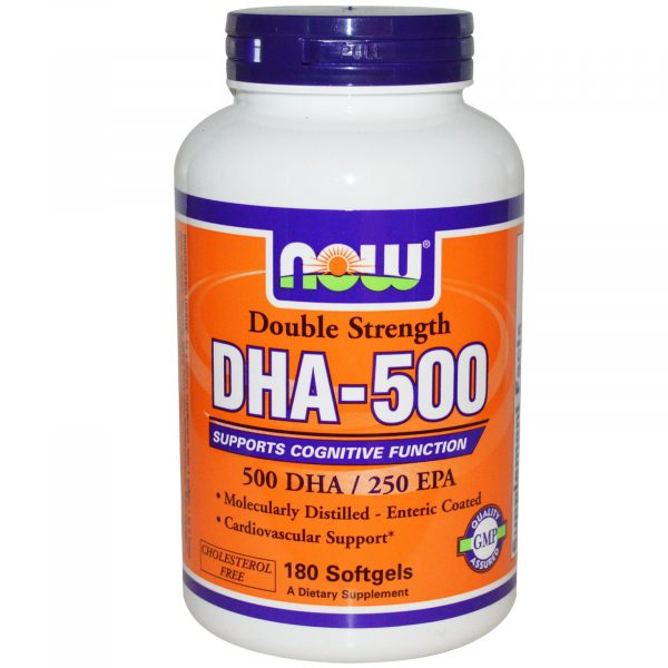NOW 01613 4 1 600x600 - Now Foods, DHA-500, Double Strength, 180 Softgels