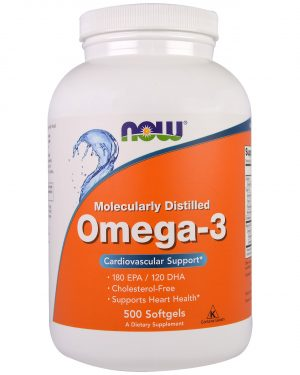 NOW 01653 3 1 300x375 - Omega-3 (500 Softgels) - Now Foods
