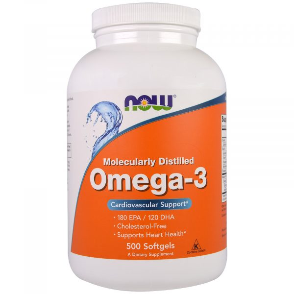 NOW 01653 3 1 600x600 - Omega-3 (500 Softgels) - Now Foods