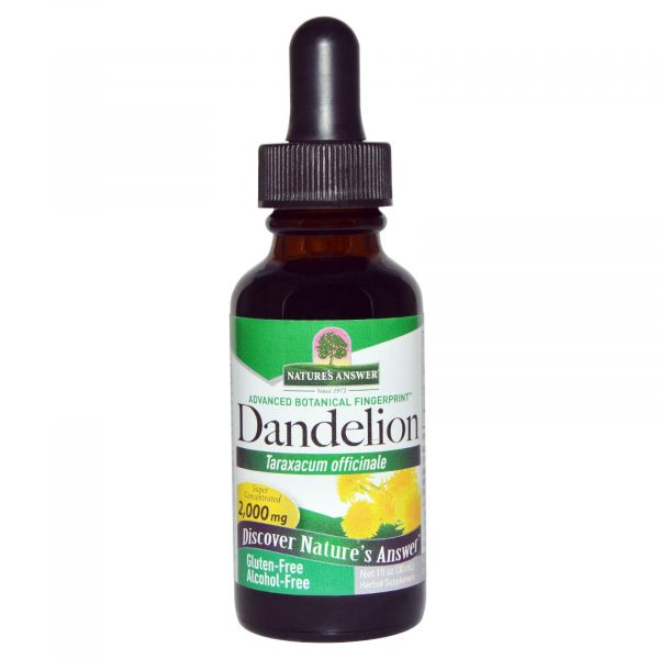 NTA 00604 3 600x600 - Dandelion, Alcohol Free, 2000 mg (30 ml) - Nature's Answer