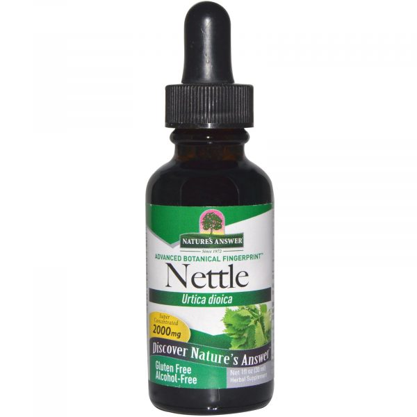 NTA 00650 3 600x600 - Nettle Leaf, Alcohol-Free, 2000 mg (30 ml) - Nature's Answer