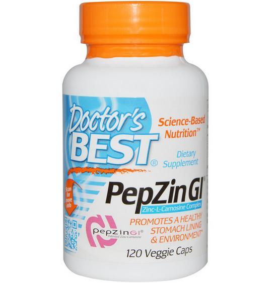 aaa1 9 - PepZin Gl Zink-L-Carnosine Complex (120 Veggie Caps) - Doctor's Best
