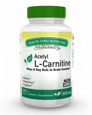 acetyl l carnitine 500mg 200 capsules 38 300x375 - Acetyl L-Carnitine 500mg (non-GMO) (200 Vegicaps) - Health Thru Nutrition
