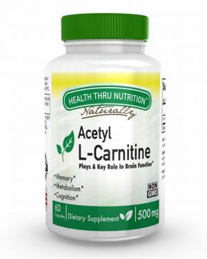 acetyl l carnitine 500mg 60 capsules 48 300x375 - Acetyl L-Carnitine 500mg (non-GMO) (60 Vegicaps) - Health Thru Nutrition