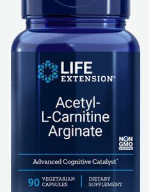 acetyl l carnitine arginate 90 veggie capsules   life extension 290x375 - Acetyl-L-Carnitine Arginate (90 Veggie Capsules) - Life Extension