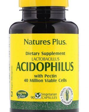 acidophilus  lactobacillus 90 vegetarian capsules   nature s plus 1 300x375 - Acidophilus- Lactobacillus (90 Vegetarian Capsules) - Nature's Plus