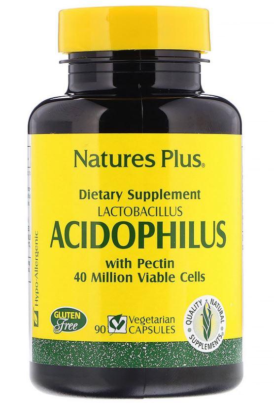 acidophilus  lactobacillus 90 vegetarian capsules   nature s plus 1 - Acidophilus- Lactobacillus (90 Vegetarian Capsules) - Nature's Plus