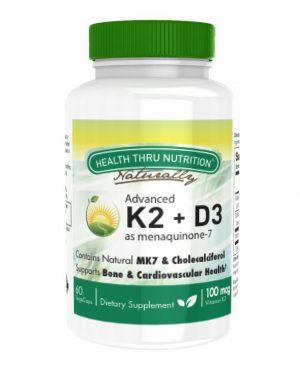 advanced vitamin k2 as mk 7 100mcg vitamin d3 25 mcg 1000 iu 60 vegecapsules 7 300x375 - K2 (100 mcg as Menaquinone 7) + D3 (1000iu) (60 Vegicaps) - Health Thru Nutrition