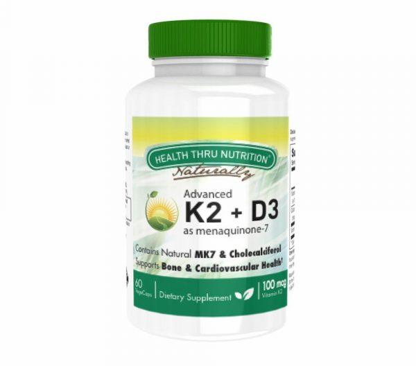 advanced vitamin k2 as mk 7 100mcg vitamin d3 25 mcg 1000 iu 60 vegecapsules 7 600x528 - K2 (100 mcg as Menaquinone 7) + D3 (1000iu) (60 Vegicaps) - Health Thru Nutrition