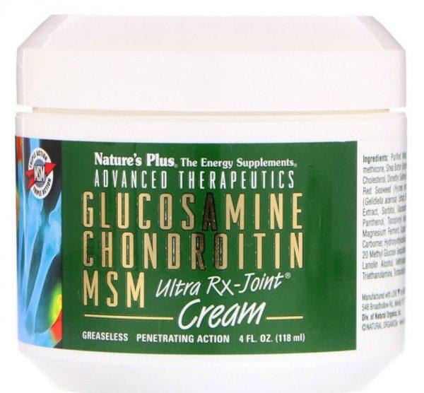 advanced therapeutics   glucosamine chondroitin msm   ultra rx joint cream 118 ml 1 600x556 - Advanced Therapeutics - Glucosamine Chondroitin MSM - Ultra Rx-Cream (118 ml) - Nature's Plus