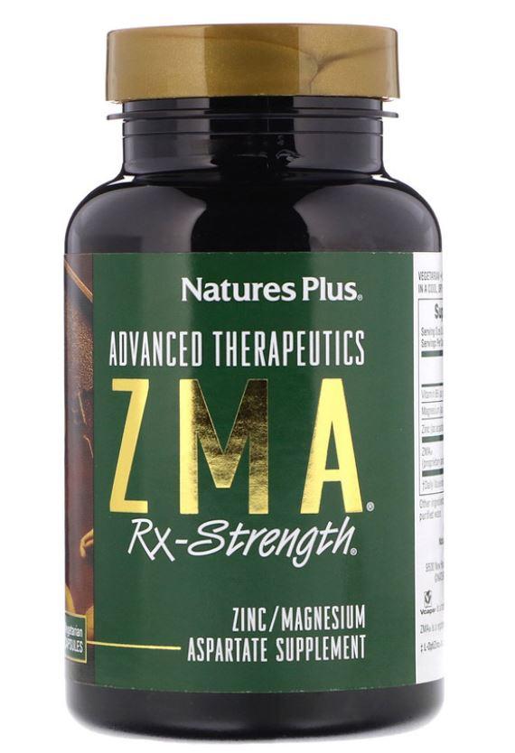 advanced therapeutics   zma rx strength 90 vegetarian capsules   nature s plus 1 - Advanced Therapeutics - ZMA Rx-Strength (90 Vegetarian Capsules) - Nature's Plus