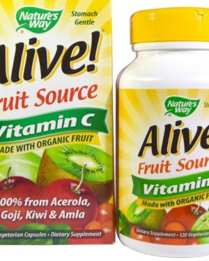 alive vitamin c natures way 1 300x375 - Alive! Vitamine C 100% Whole Food Complex (120 Vcaps) - Nature's Way