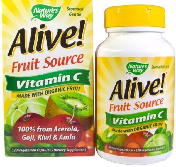alive vitamin c natures way 1 600x569 - Alive! Vitamine C 100% Whole Food Complex (120 Vcaps) - Nature's Way