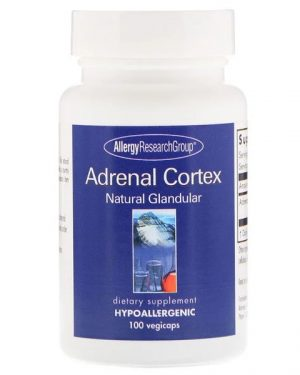 allergy adrenalcortex 100 300x375 - Adrenal Cortex Natural Glandular 100 Vegicaps - Allergy Research Group