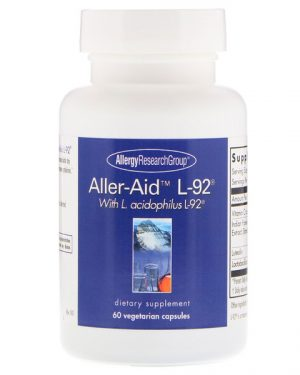 allergy alleraid 300x375 - Aller-Aid L-92 with L. Acidophilus L-92 60 Vegetarian Capsules - Allergy Research Group