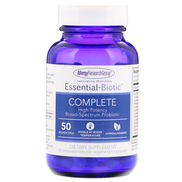 allergy biotic complete - Essential-Biotic Complete 50 Billion CFU's 60 Delayed-Release Vegetarian Capsules - Allergy Research Group