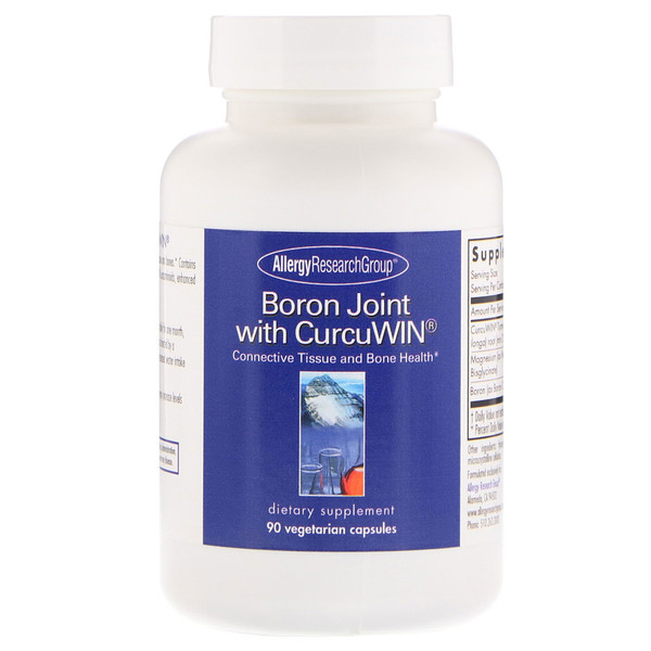 allergy boron joint - Boron with CurcuWin 90 Vegetarian Capsules - Allergy Research Group