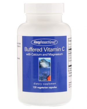 allergy buffered vitc 300x375 - Buffered Vitamin C 120 Vegetarian Capsules - Allergy Research Group