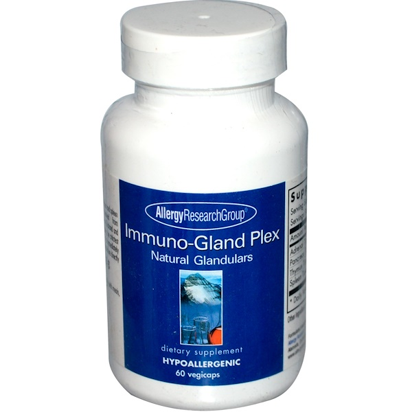 allergy immunoplex - Immuno-Gland Plex Natural Glandulars 60 Veggie Caps - Allergy Research Group