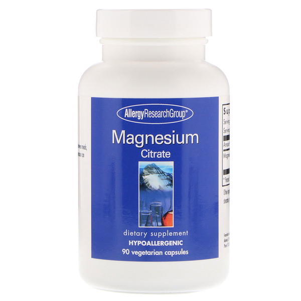 allergy magne citrate 90 - Magnesium Citrate 90 Vegetarian Capsules - Allergy Research Group