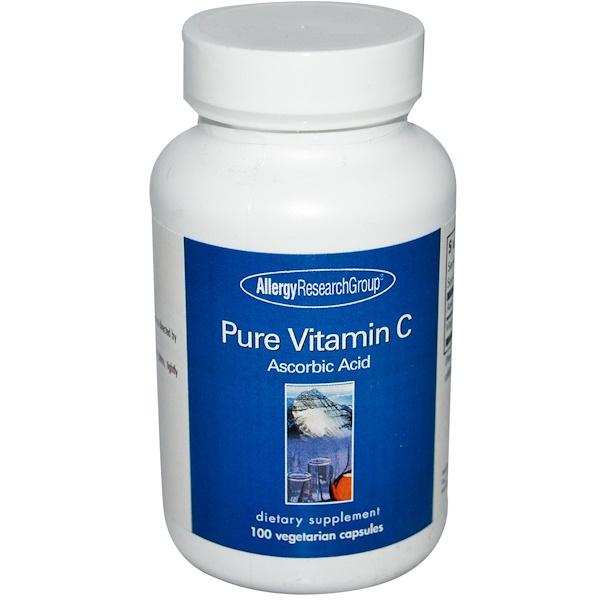 allergy pure vitamin c 100 - Pure Vitamin C 100 Veggie Caps - Allergy Research Group