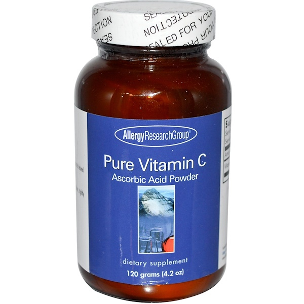 allergy pure vitamin c - Pure Vitamin C Powder (120 g) - Allergy Research Group