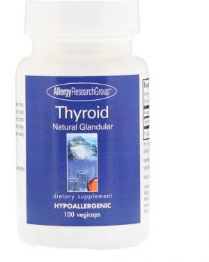 allergy thyroid 300x375 - Thyroid Natural Glandular 100 Vegetarian Capsules - Allergy Research Group