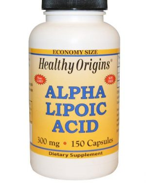 alpha lipoic acid healthy origins 1 300x375 - Alfa-liponzuur, 300 mg (150 Capsules) - Healthy Origins