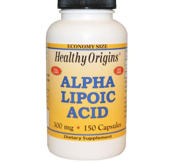 alpha lipoic acid healthy origins 1 600x571 - Alfa-liponzuur, 300 mg (150 Capsules) - Healthy Origins