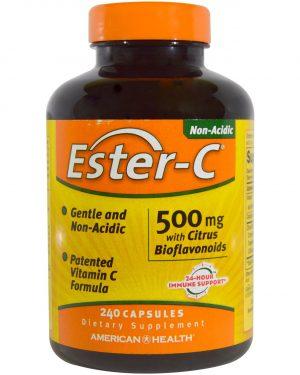 am esterc 240 1 300x375 - Ester-C- 500 mg with Citrus Bioflavonoids (240 Capsules) - American Health