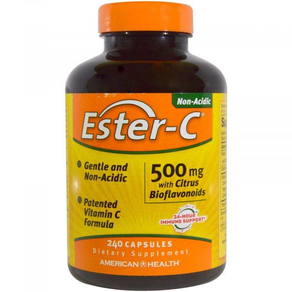 am esterc 240 1 600x600 - Ester-C- 500 mg with Citrus Bioflavonoids (240 Capsules) - American Health