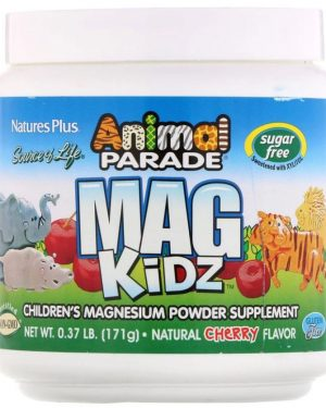 animal parade   mag kidz   children s magnesium   natural cherry flavor 171 grams   nature s plus1 300x375 - Animal Parade - Mag Kidz - Children's Magnesium - Natural Cherry Flavor (171 grams) - Nature's Plus