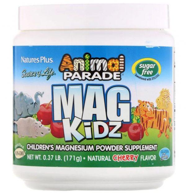 animal parade   mag kidz   children s magnesium   natural cherry flavor 171 grams   nature s plus1 600x623 - Animal Parade - Mag Kidz - Children's Magnesium - Natural Cherry Flavor (171 grams) - Nature's Plus