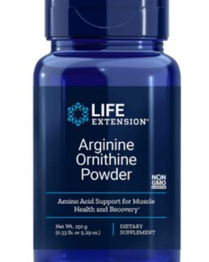 arginine ornithine powder 1 300x375 - Arginine Ornithine Poeder 150 Grams (5.29 Oz) - Life Extension