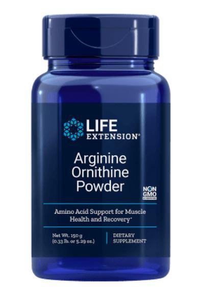 arginine ornithine powder 1 - Arginine Ornithine Poeder 150 Grams (5.29 Oz) - Life Extension