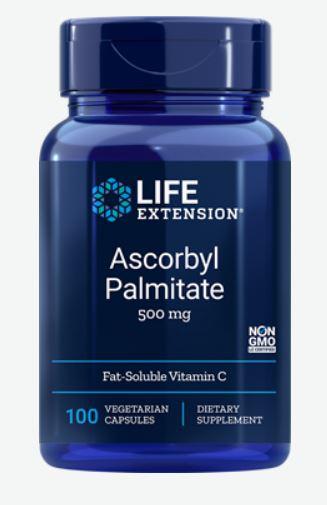 ascorbyl palmitate 500 mg 100 veggie capsules   life extension - Ascorbyl Palmitate 500 mg (100 Veggie Capsules) - Life Extension