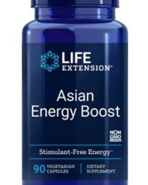 asian energy boost 300x375 - Asian energy boost, 90 plantaardige capsules - life extension