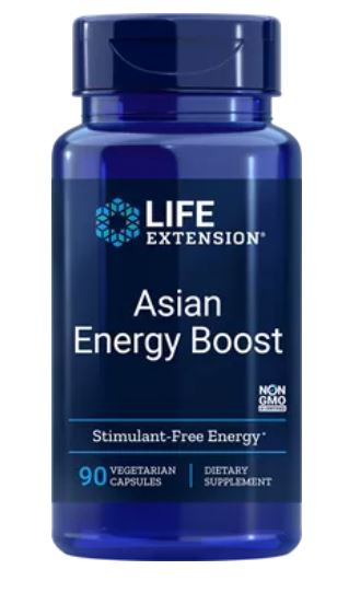 asian energy boost - Asian energy boost, 90 plantaardige capsules - life extension