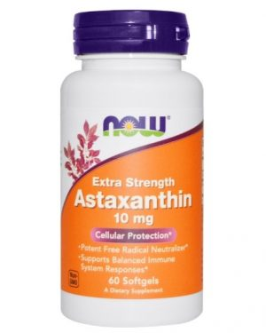 astaxanthin10 now foods 1 300x375 - Astaxanthin 10 mg (60 Softgels) - Now Foods