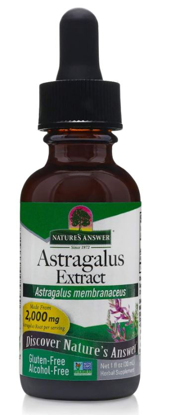 astragalus alcohol free 1000 mg 30 ml nature s answer1 - Astragalus, Alcohol-Free, 1000 mg (30 ml) - Nature's Answer