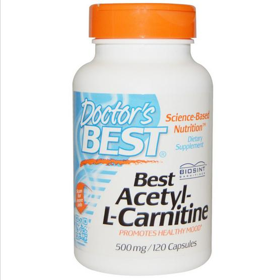 bal 1 - Best Acetyl-L-Carnitine 500 mg (120 Capsules) - Doctor's Best