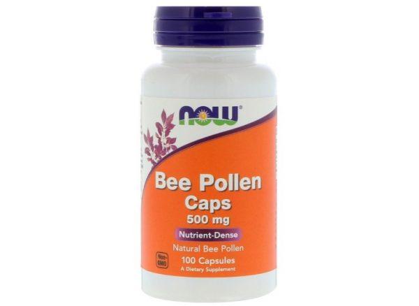 beepollen now 1 600x438 - Bee Pollen Caps 500 mg (100 Capsules) - Now Foods