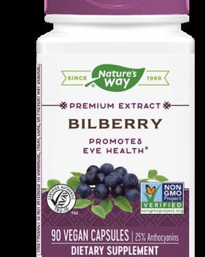 bilberry standardized 90 veg capsules   nature s way1 300x375 - Bilberry Standardized (90 Veg Capsules) - Nature's Way
