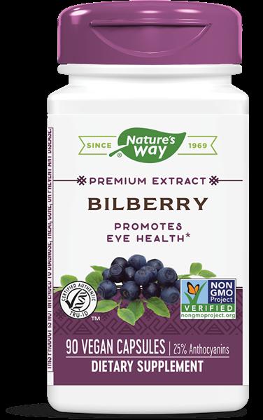 bilberry standardized 90 veg capsules   nature s way1 - Bilberry Standardized (90 Veg Capsules) - Nature's Way